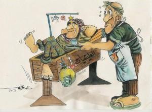 كاريكاتيـر المليشيات والحكومة