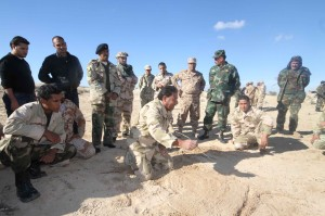تدريبات للجيش الليبي علي الرماية والاقتحام