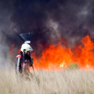 اندلاع حريق كبير في المحمية الطبيعية بمدينة امسلاتة
