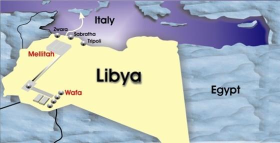 نتيجة بحث الصور عن ضخ الغاز من ليبيا الى ايطاليا