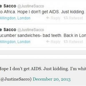 جاستين اختفت عن الأنظار وأغلقت جميع حساباتها على شبكات التواصل بعد التغريدة المشؤومة(تويتر)