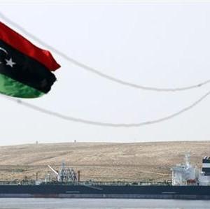 The Greek-owned oil tanker Equator is seen docked at Marsa el Hariga oil terminal in Tobruk.