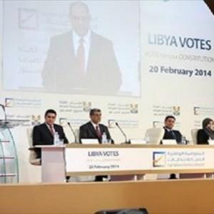 مؤتمر المفوضيّة العليا للانتخابات لإعلان النتائج الأوليّة للهيئة التأسيسية لصياغة الدستور مطلع الشهر الماضي