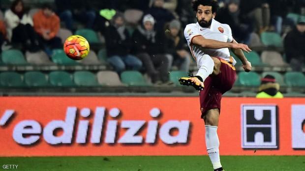 صلاح سجل الهدف الأول لروما في الدقيقة 11