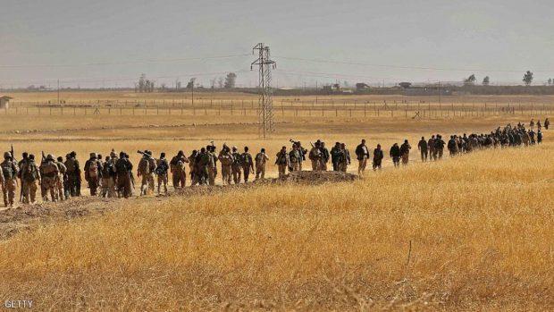 مقاتلون من البشمركة يصلون إلى مشارف الموصل للمشاركة في استعادتها من تنظيم الدولة