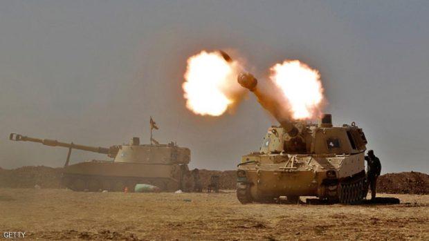 مدفعية للجيش العراقي في الموصل