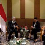 سيالة يلتقي وزيرة الخارجية الإندونيسية في جاكرتا