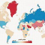 التوزيع الجغرافي للذكور والإناث في العالم