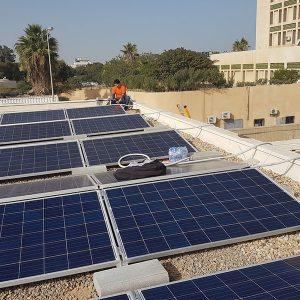 بدعمٍ من الأمم المتحدة.. نظام طاقة شمسية في مستشفى أبوسليم للحوادث