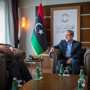 السويحلي يلتقي بمبعوث جامعة الدول العربية إلى ليبيا