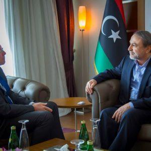 السويحلي يلتقي بكوبلر في طرابلس ويناقشان جرائم حرب