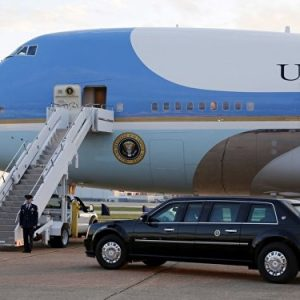 طائرة الرئيس الأمريكي ترامب الرئاسية كادت تنفجر في الجو