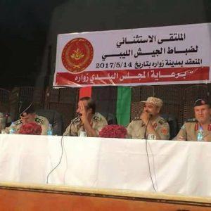 ملتقى ضباط الجيش في زوارة: نرفض قيادة حفتر لـ