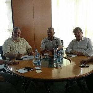 اجتماع الهيئة العامة للمعلومات ومصلحة أملاك الدولة