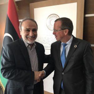 كوبلر يلتقي عبدالرحمن السويحلي في طرابلس
