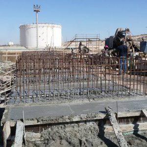 إنشاء خزانات كيروسين الطيران بمستودع مرسى البريقة النفطي