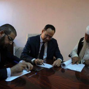 وكيل وزارة التعليم يلتقي مراقب التعليم ببلدية أبوسليم وعضو عن البلدية