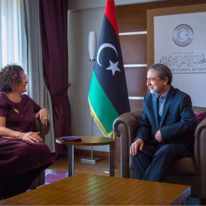 السويحلي يلتقي بالسفيرة الفرنسية لدى ليبيا