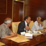 وزير الصحة المفوض يلتقي وفداً من مدينة العجيلات