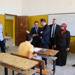 جمعة وشوبار يتابعان سير امتحانات الشهادة الثانوية في بلديتي سوق الجمعة وتاجوراء