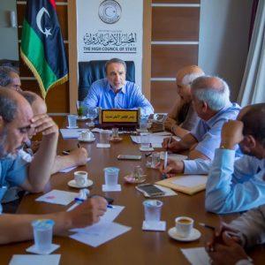 رئيس المجلس الأعلى للدولة يجتمع برؤساء اللجان الدائمة في المجلس
