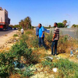 أعمال قياس رفع مساحي لمنسوب مياه الصرف الصحي ببلدية أبو سليم