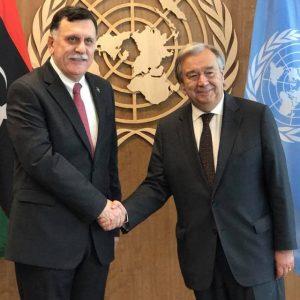 رئيس المجلس الرئاسي يجري محادثات مع الأمين العام للأمم المتحدة