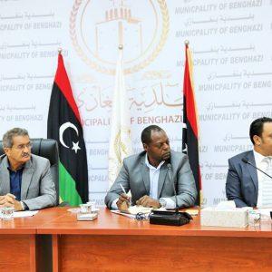بلدية بنغازي تسلم احتياجات المناطق المحررة المطلوبة للحكومة الليبية المؤقتة