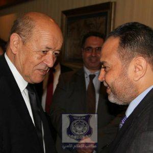 وزير الداخلية المفوض يستقبل وزير خارجية فرنسا بطرابلس