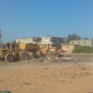 استمرار حَملة النظافة في مختلف مناطق بلدية بنغازي