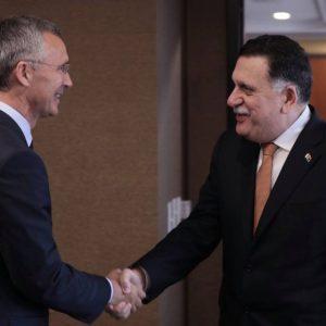 رئيسُ المجلسِ الرئاسي يجريِ محادثاتٍ مع أمين عَام «الناتو»