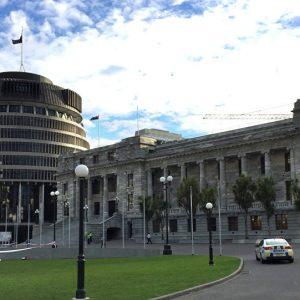 رجل يُشعل النار في جسده أمام برلمان نيوزيلندا