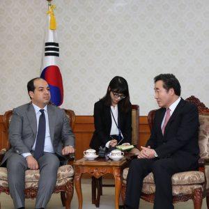 «معيتيق» في ضيافة رئيس وزراء كوريا الجنوبية بالعاصمة سيول