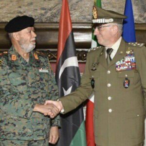 «رئيس أركان الوفاق الليبية»يبحث في روما الدعم العسكري الإيطالي