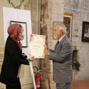 الفنانة حميدة صقر تفوز بالترتيب الأول في الفن التشكيلي ببلجيكا