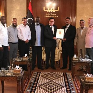 رئيس المجلس الرئاسي يستقبل وفداً من الإتحاد العام لكرة السلة