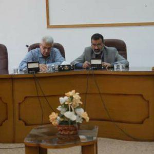 عضو المجلس البلدي المتابع لملف التعليم يحضر الاجتماع الدوري لمجلس إدارة الجامعة الأسمرية