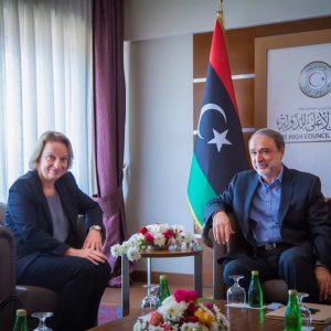 «السويحلي» يستقبل رئيسة بعثة الإتحاد الأوروبي لدى ليبيا