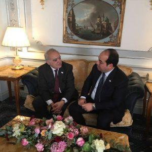 المبعوث الأممي غسان سلامة يبحث الأوضاع في ليبيا و خطة عمل الامم المتحدة مع النائب بالمجلس الرئاسي أحمد معيتيق