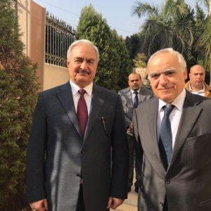 مبعوث الأمين العام يلتقي خليفة حفتر في القاهرة