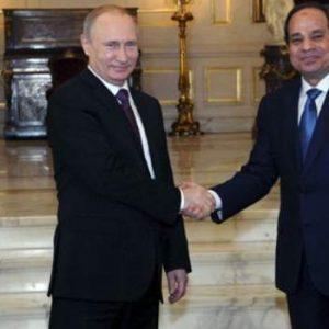 بوتين يلتقي السيسي في القاهرة والإتفاق على إنشاء مفاعل الضبعة النووي