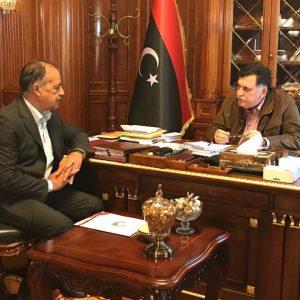 رئيس المجلس الرئاسي يستقبل رئيس اللجنة الأولمبية الليبية