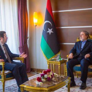 «السويحلي» يلتقي القائم بأعمال السفارة الإنجليزية لدى «ليبيا»