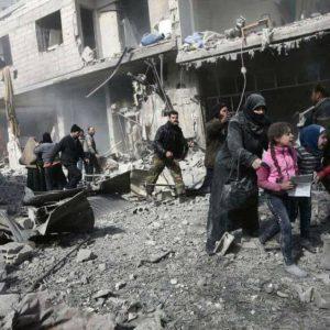 بالصور..جانب من مجازر الطيران الروسي وطيران الأسد بحق أهالي الغوطة في دمشق