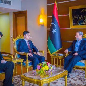 رئيس المجلس الأعلى للدولة يلتقي السفير الصيني لدى «ليبيا»