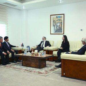 «صنع الله» يبحث تعزيز التعاون المشترك بين المؤسسة والشركات الكورية الجنوبية
