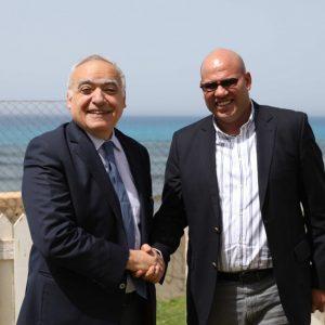 المبعوث الأممي الخاص إلى ليبيا غسان سلامة يلتقي في طرابلس مع نائب رئيس المجلس الرئاسي فتحي المجبري لمناقشة المستجدات السياسية والإقتصادية