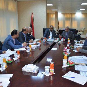 المجبري يلتقي رئيس هيئة الرقابة الإدارية ويناقش معه الترتيبات المالية للعام 2018