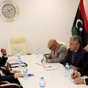 أمين عام مجلس الوزراء يلتقي رئيس المؤسسة الوطنية للنفط