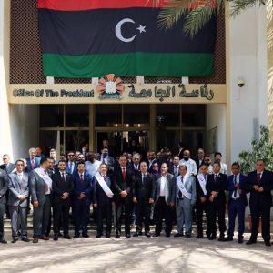معيتيق وكاجمان يشاركان في اليوم الافتتاحي لإحتفالية الذكرى الستين لتأسيس جامعة طرابلس